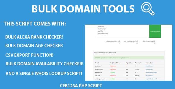 Bulk Whois Domain Availability Checker Script