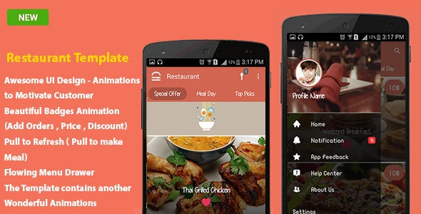 Android Restaurant Template - CodeCanyon Item for Sale