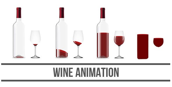 Wine Animation - HTML5 Canvas