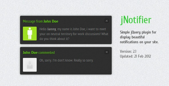 jNotifier - CodeCanyon Item for Sale