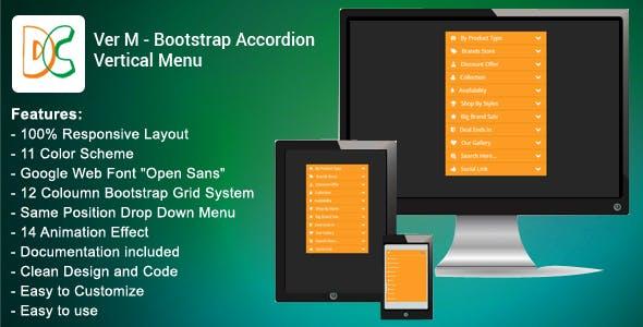 Ver M - Bootstrap Accordion Vertical Menu