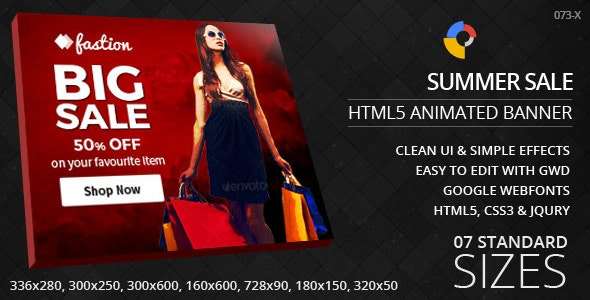 Fashion Sale - HTML5 Ad Banners - CodeCanyon Item for Sale