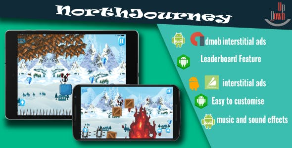 "NorthJourney IOS with Admob | Chartboost | Leaderboard and No Ads ""In App Purchase"