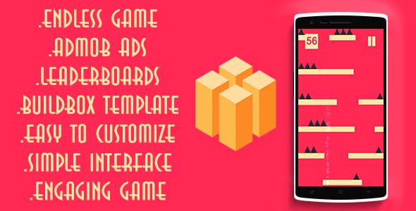 Fall switch + buildbox template + Admob ads + leaderbords