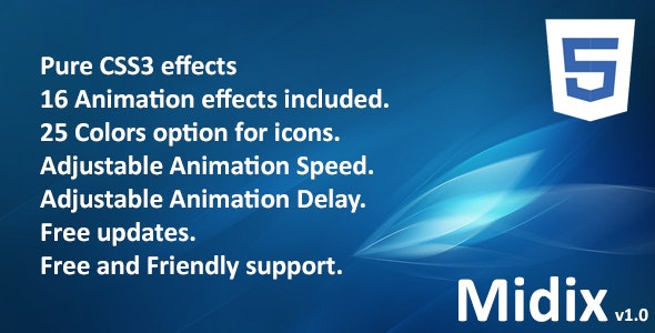 Midix - CSS3 Animation Effects Without Jquery - CodeCanyon Item for Sale