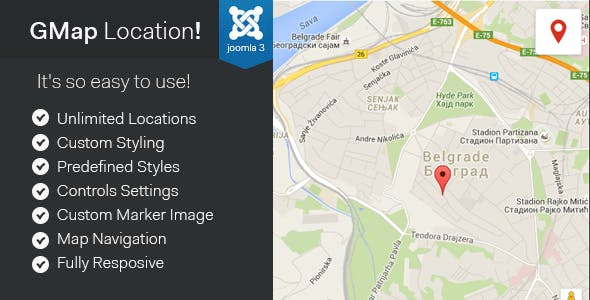 GMap Location! - Joomla Google Maps Module