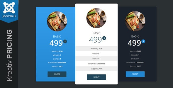 Kreativ Pricing - Joomla Pricing Table Module - CodeCanyon Item for Sale