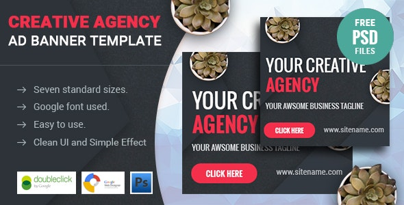 Creative Agency | HTML 5 Animated Google Banner - CodeCanyon Item for Sale