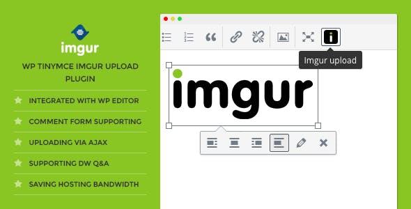 DW TinyMCE Imgur Upload - WordPress Plugin