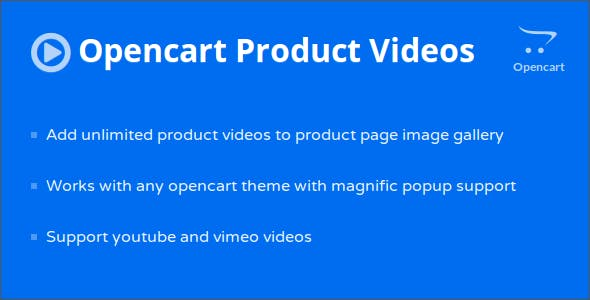 Opencart Product Page Videos