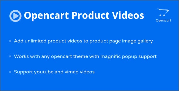 Opencart Product Page Videos - CodeCanyon Item for Sale