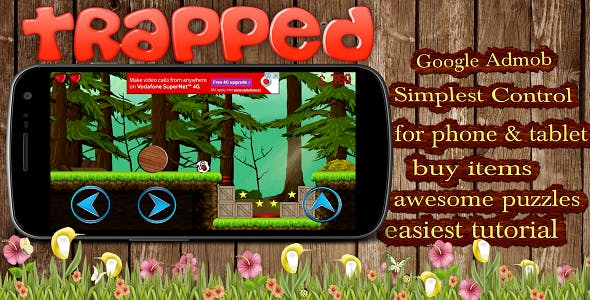 TrappeD - Unity Video ADs + Admob + Unlock Levels