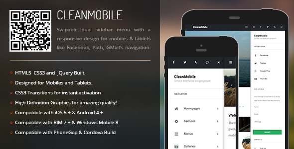 CleanMobile   Sidebar Menu for Mobiles & Tablets - CodeCanyon Item for Sale