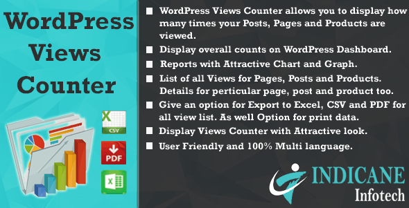 WordPress Views Counter - CodeCanyon Item for Sale