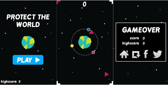 Protect the World - HTML5 Casual Game