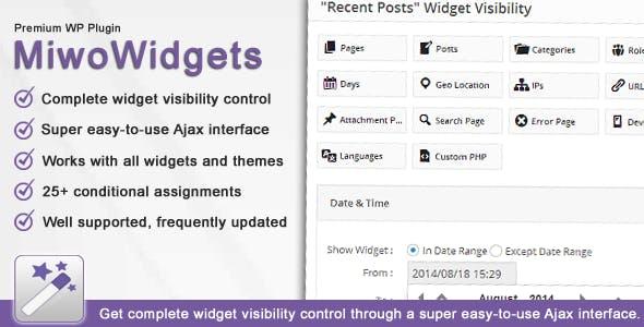 MiwoWidgets - Advanced Widget Manager