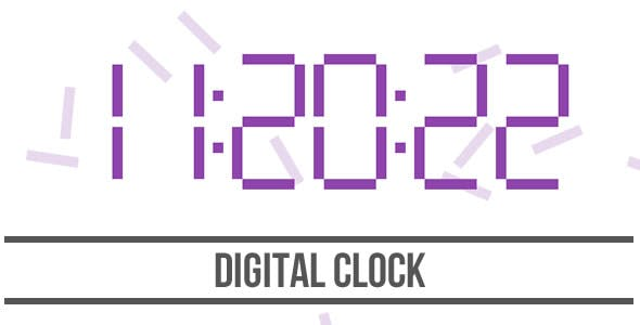 Digital Clock - HTML5 Canvas
