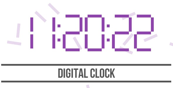Digital Clock - HTML5 Canvas - CodeCanyon Item for Sale