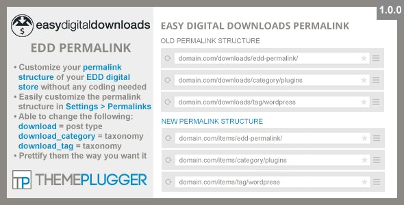 Easy Digital Downloads Permalink - CodeCanyon Item for Sale