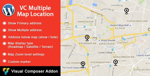 VC Multiple Map Location - CodeCanyon Item for Sale