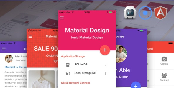 Ionic Material Design - CodeCanyon Item for Sale