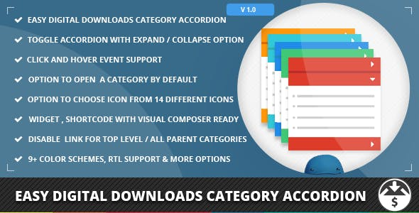 Easy Digital Downloads Category Accordion