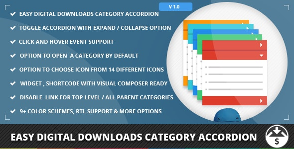 Easy Digital Downloads Category Accordion - CodeCanyon Item for Sale