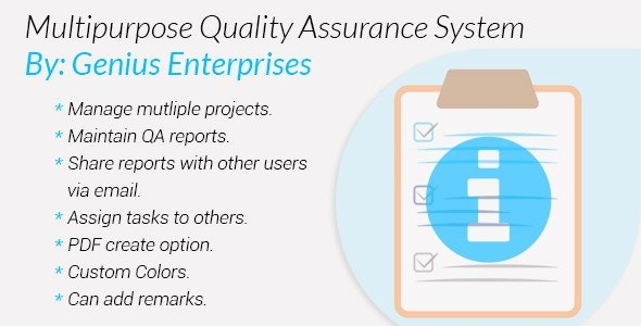 Multipurpose Quality Assurance System - CodeCanyon Item for Sale