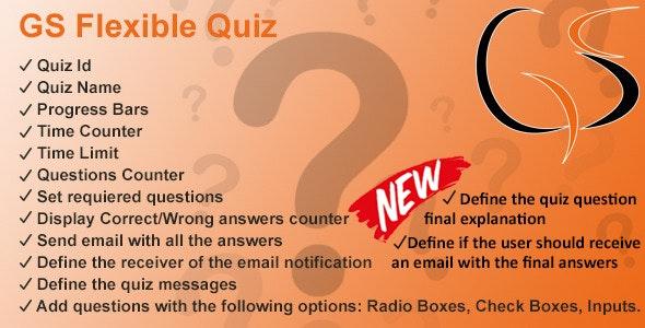 GS Flexible Quiz - CodeCanyon Item for Sale