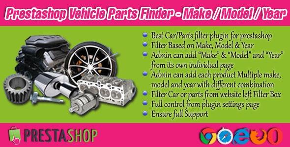 Prestashop Vehicle Parts Finder - Make/Model/Year - CodeCanyon Item for Sale