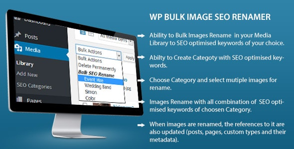 Bulk Image Seo Renamer - CodeCanyon Item for Sale