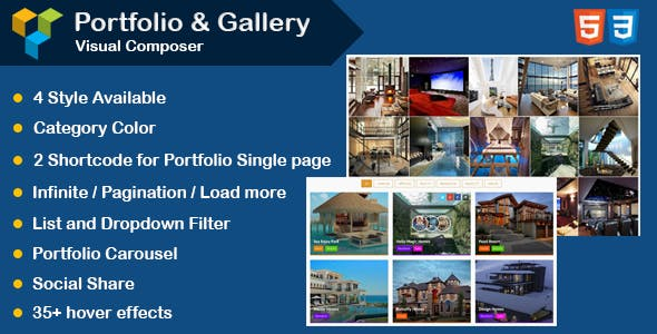 WPBakery Page Builder - Portfolio and Gallery with Carousel (formerly Visual Composer)