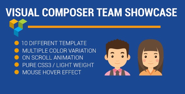 visual composer Team Profile showcase - CodeCanyon Item for Sale