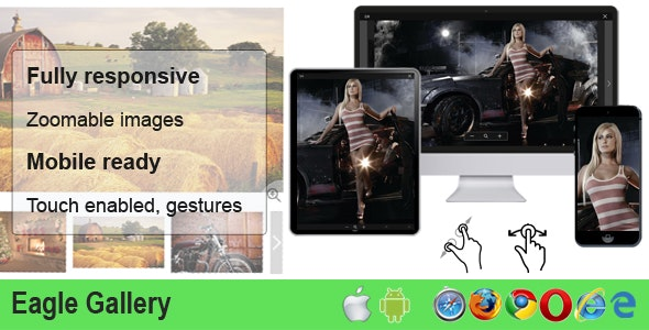 Eagle Gallery - responsive, touch, zoom, product image gallery - CodeCanyon Item for Sale