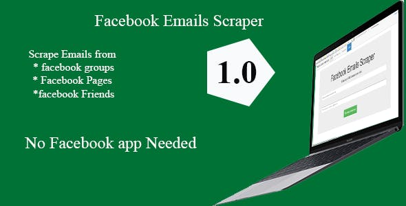 Facebook Groups /Pages/ Profiles Emails Scraper 1.1