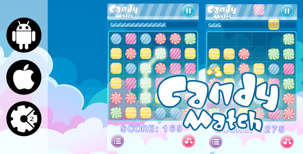 Candy Match 3 - HTML5 Mobile Game + Admob (Construct 2- CAPX) - CodeCanyon Item for Sale