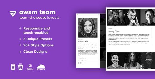The Team - Team Showcase Framework HTML5 - CodeCanyon Item for Sale