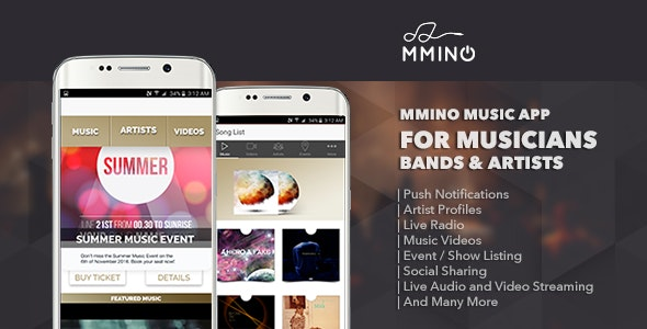 Mmino - Android Music Band App - CodeCanyon Item for Sale