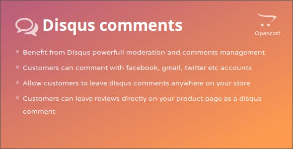 Disqus Comments Opencart Module