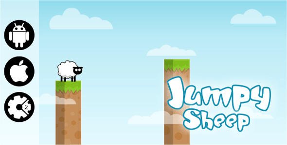 Jumpy Sheep - HTML5 Game (Construct 2 - CAPX) - CodeCanyon Item for Sale