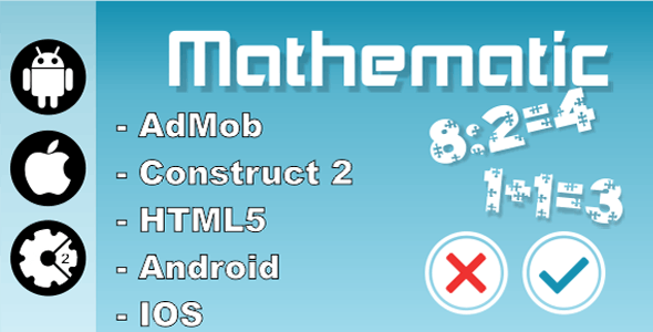 Mathematic - HTML5 Game (Construct 2 - CAPX)