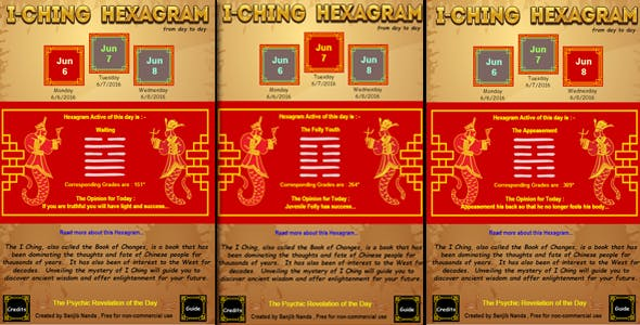 I-ching Daily Hexagram