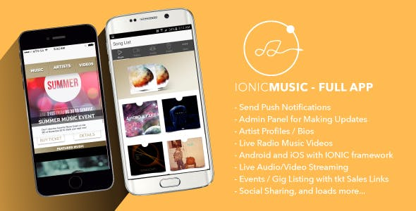 Ionic Music - Full Application