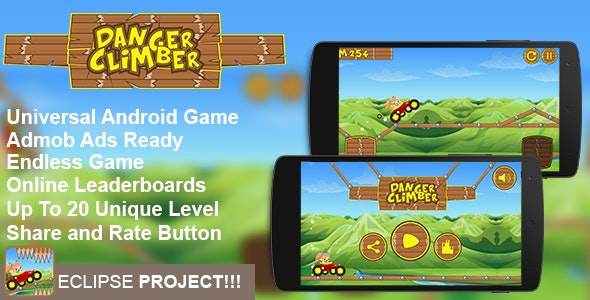 Danger Climber  - Addictive Arcade Android Game Template Eclipse Project - CodeCanyon Item for Sale