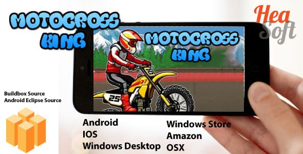 Motocross King - Android Buildbox & Eclipse Game Template