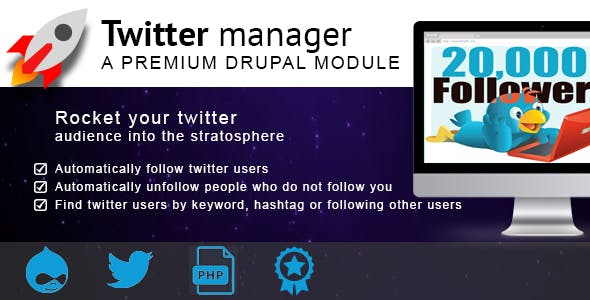 Twitter Manager Drupal Plugin