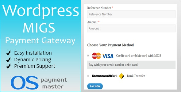 Migs Custom Payment for Wordpress - CodeCanyon Item for Sale