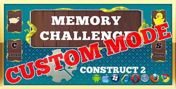 Memory Challenge - Custom Mode