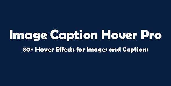 Image Caption Hover Pro for Visual Composer