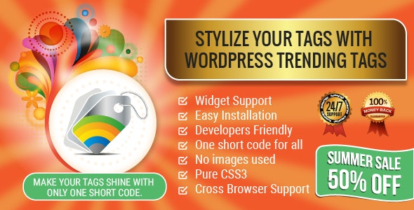 Wordpress Trending Hashtags Plugin - CodeCanyon Item for Sale